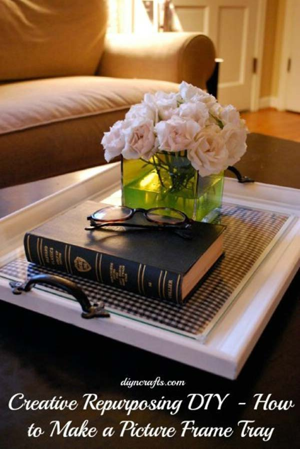 diy repurpose reuse old picture frame ideas8