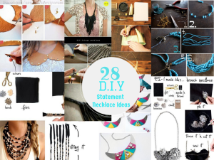 28 DIY Ideas To Make Your Own Statement Necklace. Its Absolutely Stunning: Part 1