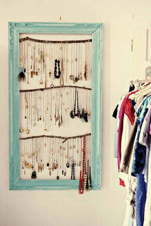 jewelry desk organization ideas 41 diy ideas to brilliantly reuse old picture frames into home