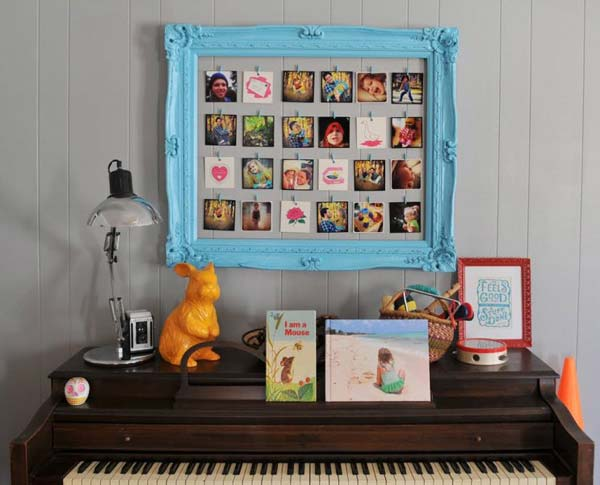 41 Diy Ideas To Brilliantly Reuse Old Picture Frames Into Home Decor Very Creative Sad To