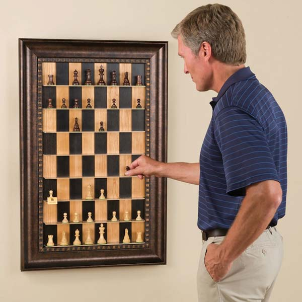 Unique Vertical Chess Set From Old Frame