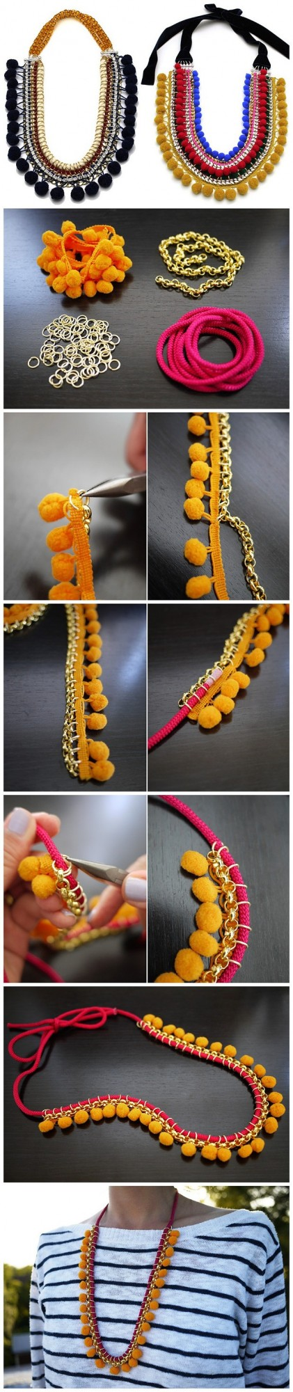 how to make statement necklace tutorial