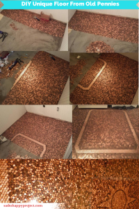 This Man Used Old Pennies to Create House Floor. It Looks Awesome!