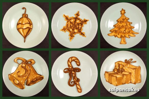DIY Christmas Festive Pancakes. This Dad Makes Creative Pancakes.