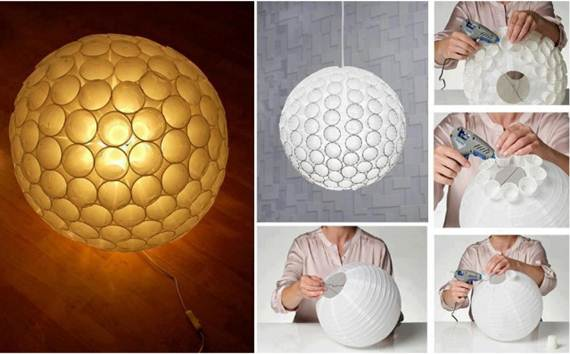 15 creative diy paper lanterns ideas to brighten your home part 2 diy ruffled paper lantern solutioingenieria Gallery