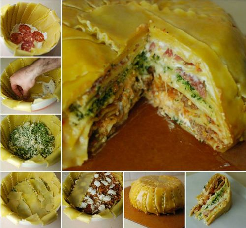 DIY Homemade Deep Dish Layered Lasagna Timpano Cake