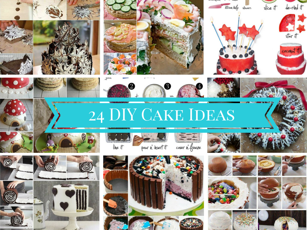 DIY home made cake gift ideas