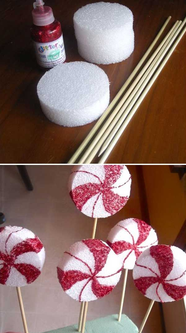 peppermint lollipop diy homemade christmas decorations