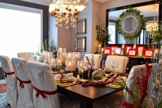 17 Magical Christmas Dining Table Decoration Ideas ~ 083420_Christmas Decorating Ideas Dining Room Table