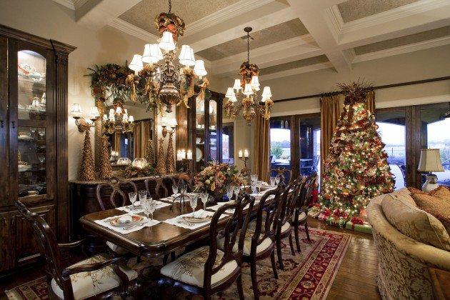 Christmas Dinner Table Room Decoration Ideas Centerpieces