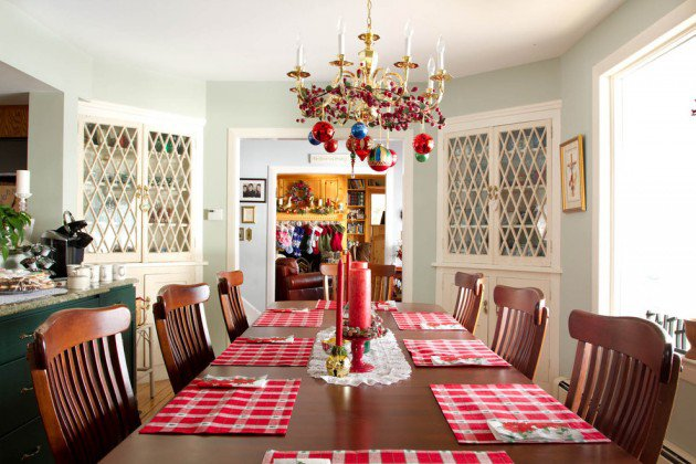 Magical Christmas Dining Table Decoration Ideas Sad To Happy - Dinner table for 12