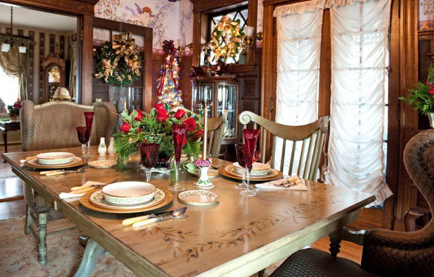 christmas dinner table room decoration ideas dinner table decoration centerpieces - Christmas Dining Room Table Decorations