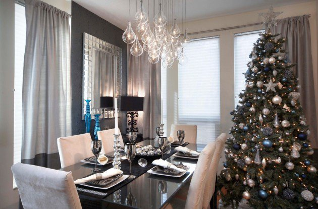 christmas dinner table room decoration ideas dinner table decoration centerpieces - Christmas Dinner Table Decorations