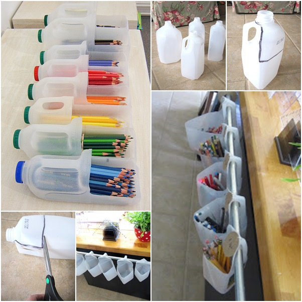 8 easy diy recycling crafts its time to empty recyle bin Homemade craft storage ideas