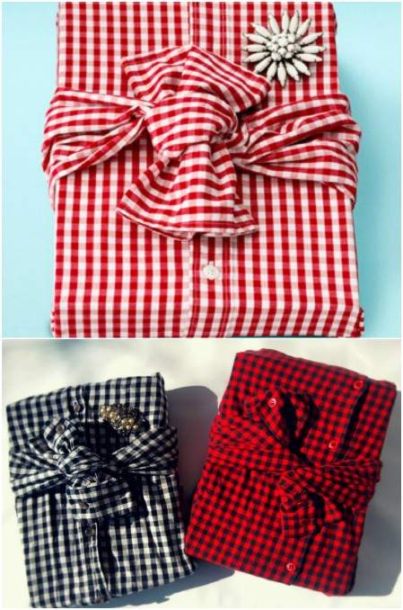 diy creative gift wrapping ideas With shirt for him boyfrind