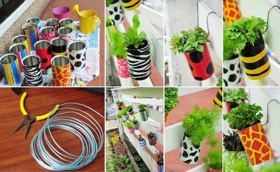 8 easy diy recycling crafts its time to empty recyle bin - Recycled can art projects ...