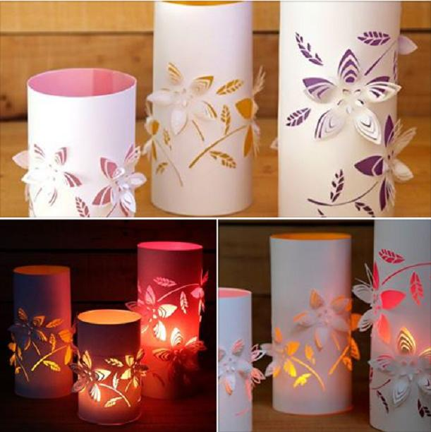 15 creative diy paper lanterns ideas to brighten your home for Home decorations from waste products