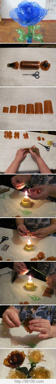 diy reuse old plastic spoon crafts