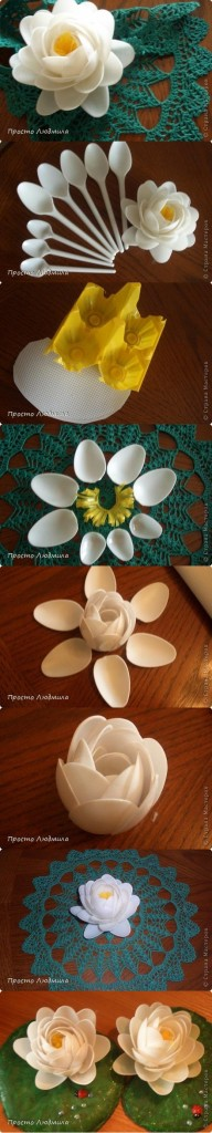 diy reuse old plastic spoon crafts