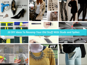 20 DIY Ideas To Revamp Your Old Stuff With Studs and Spikes