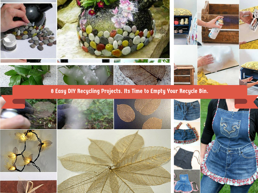 8 easy diy recycling crafts its time to empty recyle bin for Easy recycling ideas