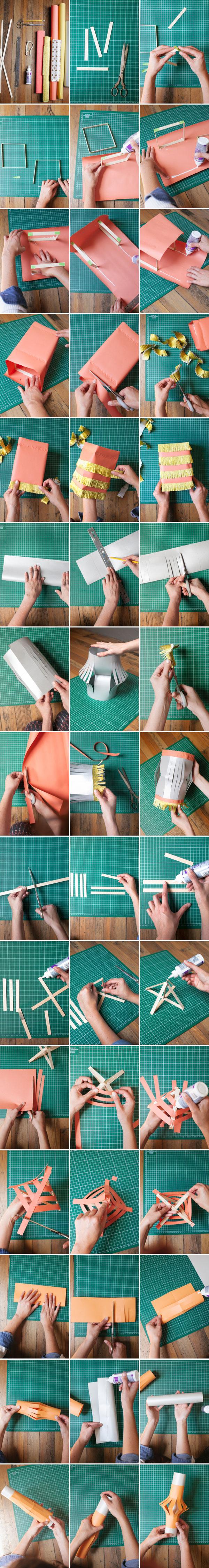 easy homemade Paper Lanterns