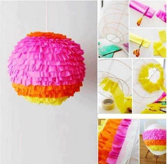homemade Ruffled Paper Lantern