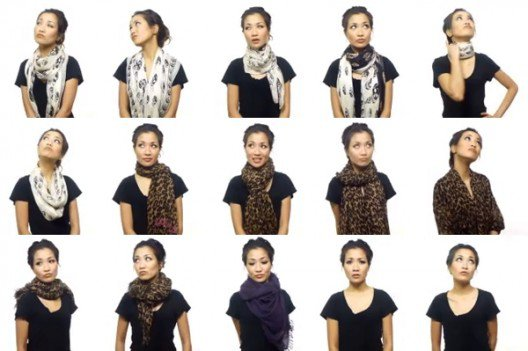 A Video Shows 25 Super Stylish Ways T0 Wear A Scarf In Five Minutes