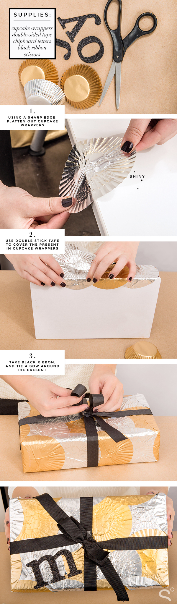 how to wrap a gift in a unique creative way