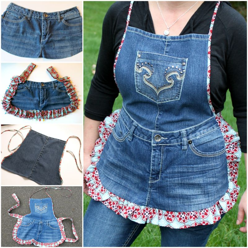 DIY Aprons From Old Jeans