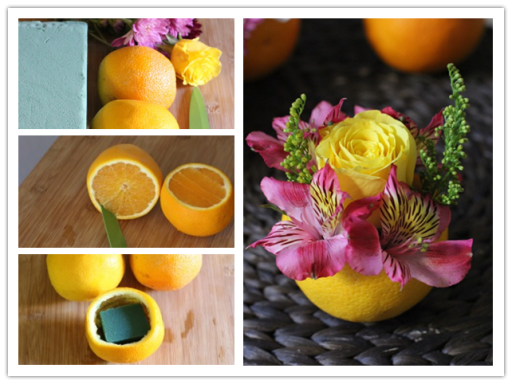How-To-Make-Valencia-Orange-Vase-Flower-reuse of orange peels