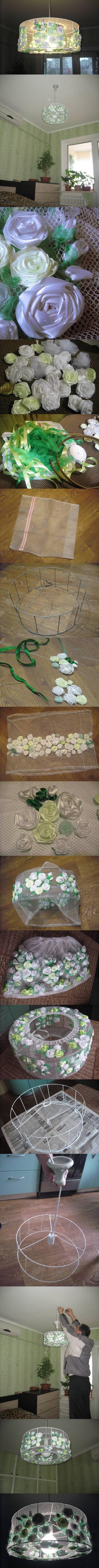 How-to-make-Flower-Chandelier-diy homemade Chandelier-