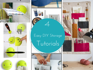 4 Easy DIY Storage Ideas Tutorials to be More Organized this Year