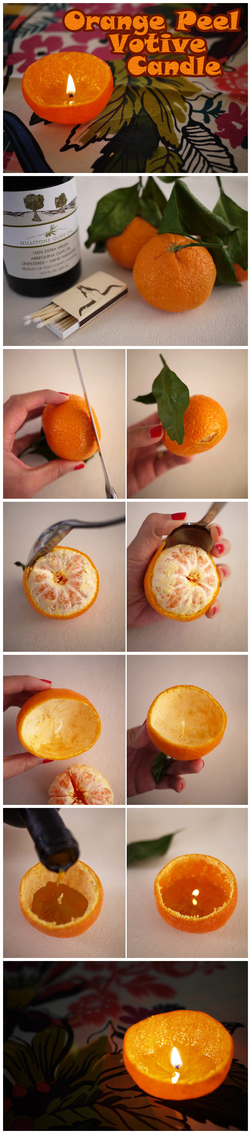 how to make orange peel candle