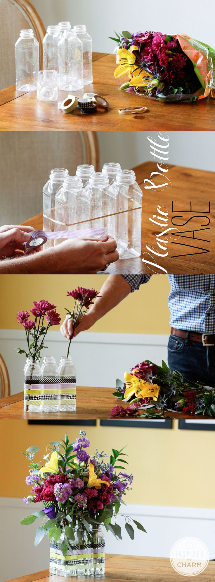 3 unique plastic bottles recycling ideas for home decor for Diy plastic bottle