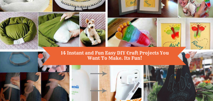 14 Instant And Fun Easy Diy Craft Projects You Want To Do