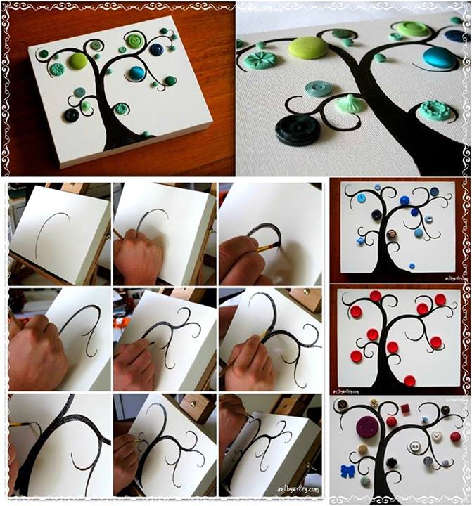 DIY Button Tree Tutorial Diy Fun Crafts For Kids
