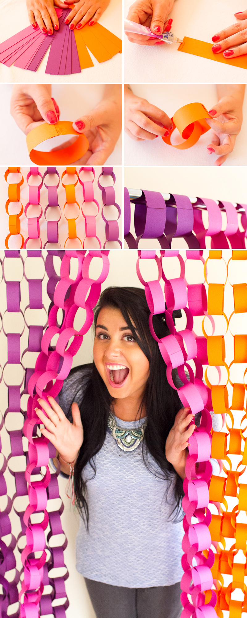 DIY-Paper-chain-photo backdrop idea tutorial