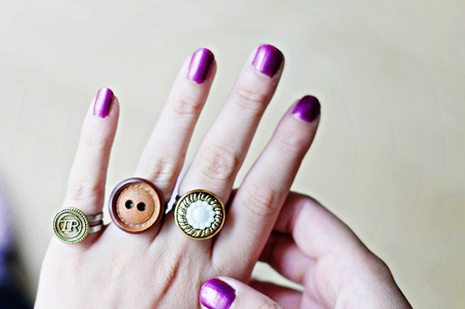 DIY-_-Button-Rings-button crafts