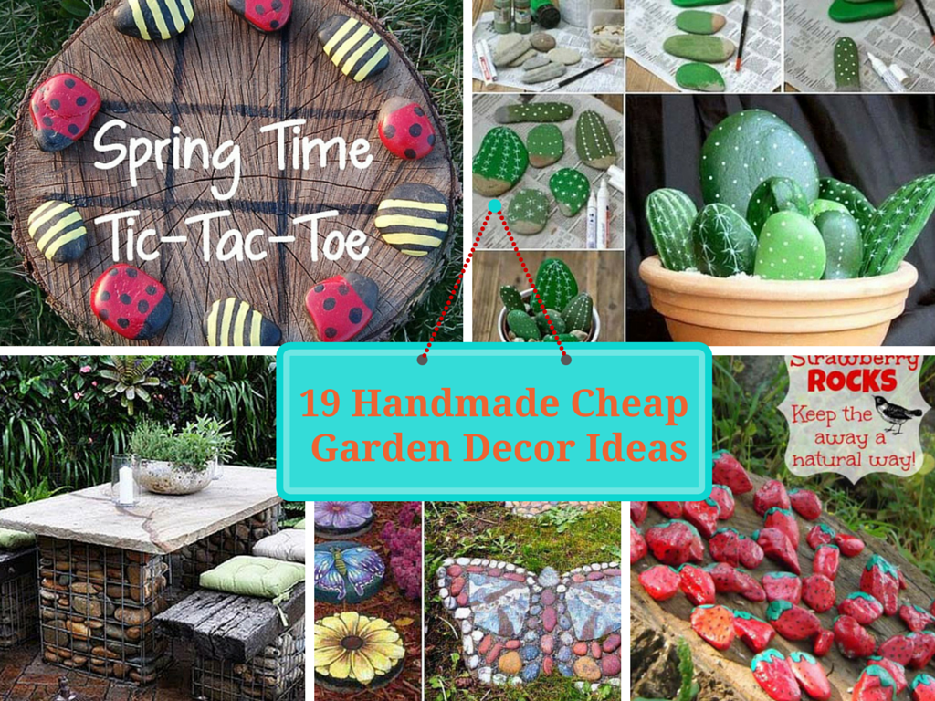 19 handmade cheap garden decor ideas to upgrade garden for Inexpensive house decorating ideas