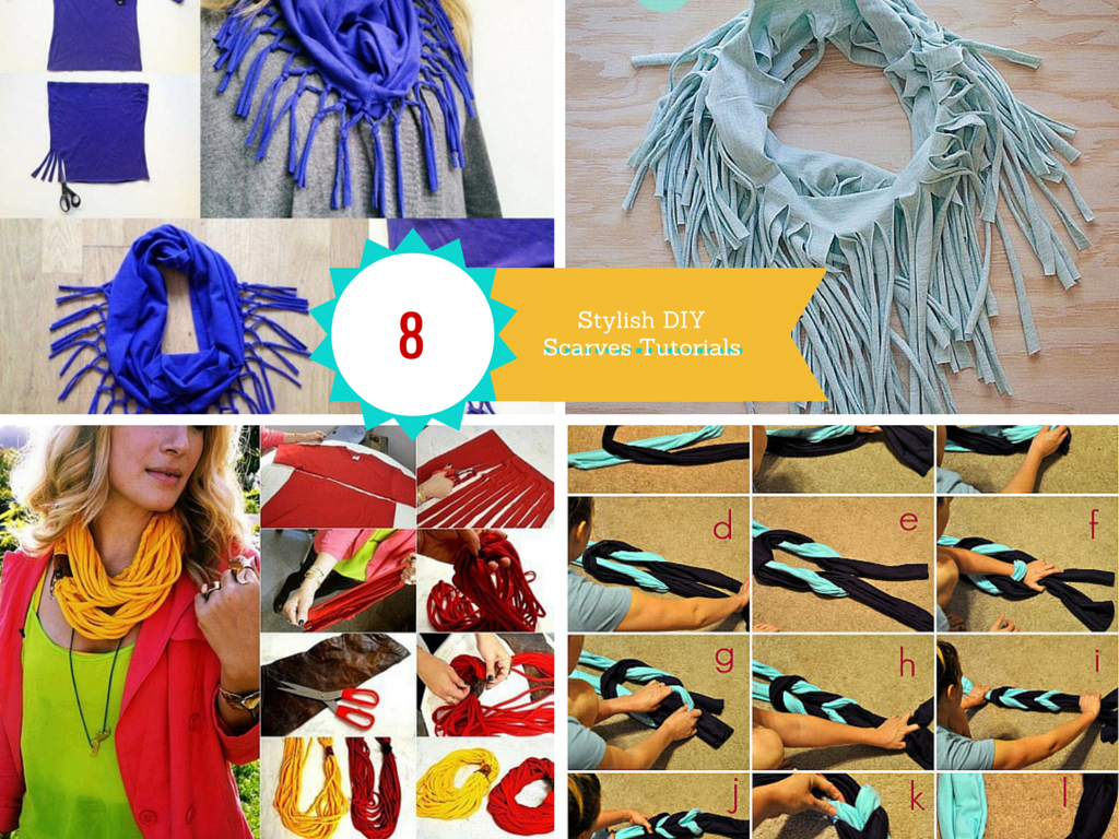 8 DIY Cool Fashionable Ideas on How to Make a Infinity Scarf