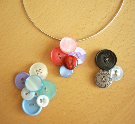 button crafts pendant button necklace diy