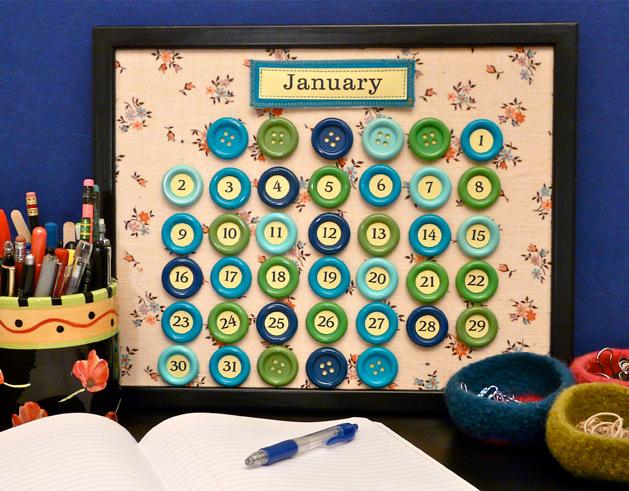 Button Perpetual Calendar Diy Crafts