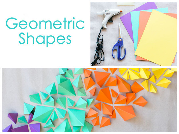 diy 3d geometric shape backdrop
