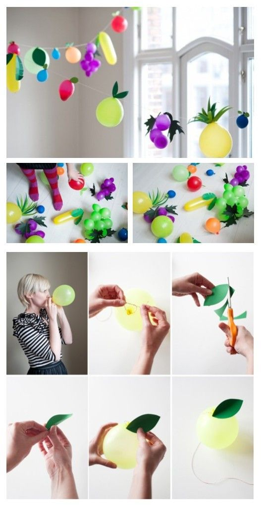 diy balloon garland making