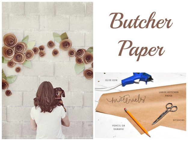 diy bridal tissue paper backdrop for wedding