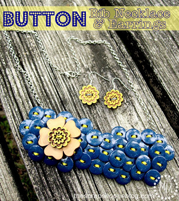 diy button crafts button necklace