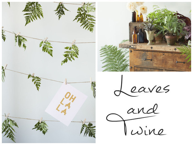 diy elegant leaves leaf backdrop