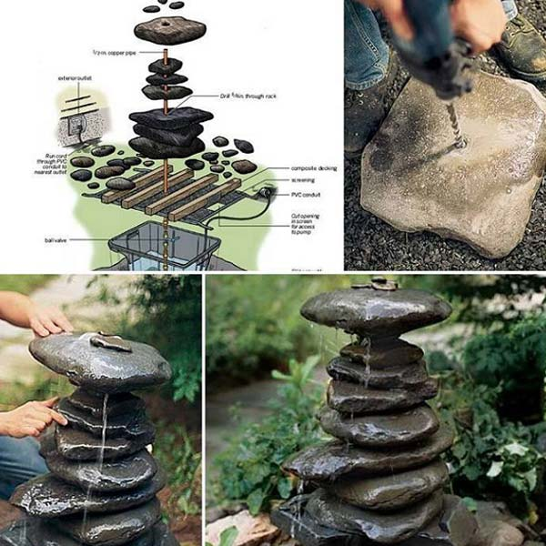 19 handmade cheap garden decor ideas to upgrade garden for Making a water garden