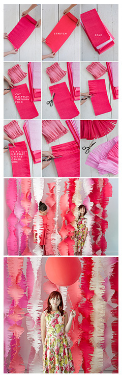 diy handmade FRINGE GARLANDS